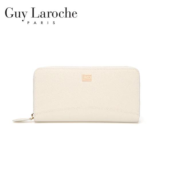 [Guy Laroche] 사피아노 카드수납 지퍼장지갑-아이보리