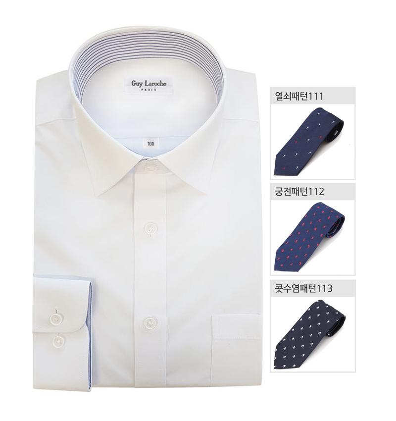 [기라로쉬] 화이트 셔츠+패턴넥타이 set